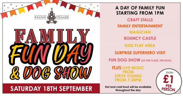 Family Fun Day at the Railway Steamer
