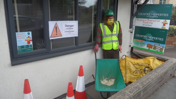 Scarecrow road works